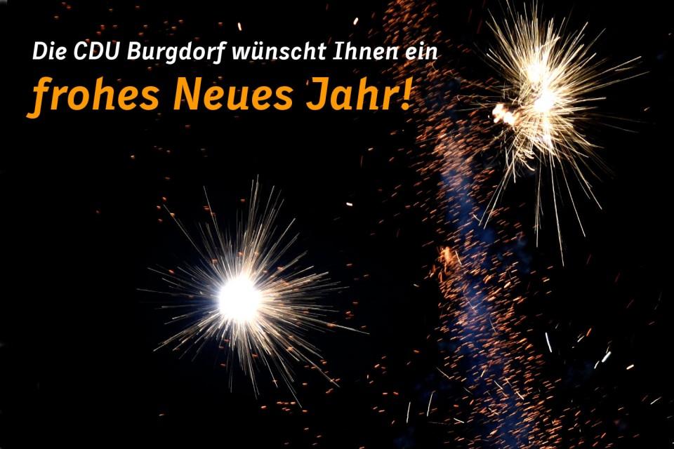 CDU Burgdorf - CDU wünscht allen Burgdorfern ein frohes Neues Jahr